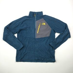 North Face Mens Blue Fleece Pullover L A9503